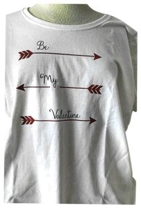 Fruit of the Loom Valentine's Gift Love T Shirt white