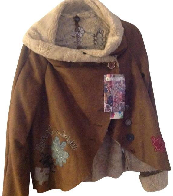 Item - Tan. Brown. Multi Kiss & Dream Jacket Size 14 (L)