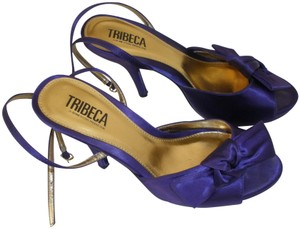 Tribeca by Kenneth Cole Satin Purple Sandals