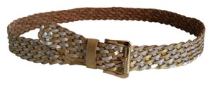 Guess Guess Genuine Leather braided Belt Size L NEW WITH TAGS