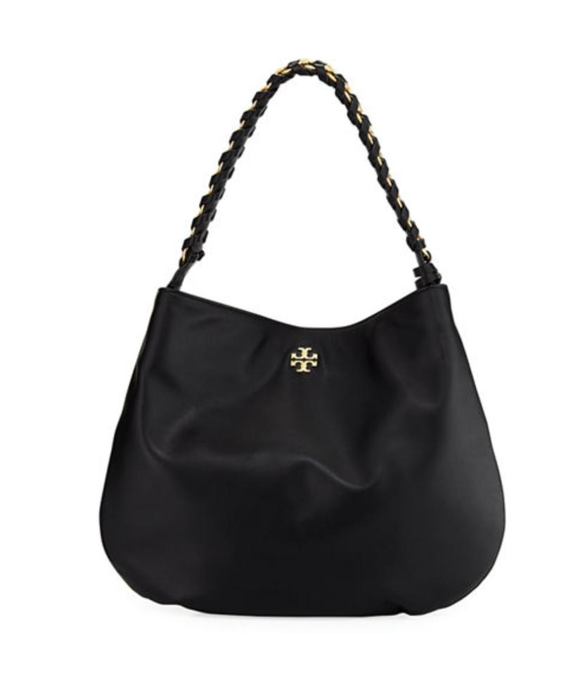 f8c1cea7019 Tory Burch Whipstitch Brooke Chain Handbag Black Leather Hobo Bag ...