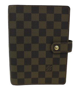Louis Vuitton LOUIS VUITTON Damier Ebene Agenda MM Planner Cover