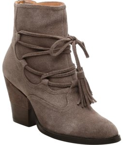 Matiko Taupe/Gray Genuine Suede with Tassel Laces Boots