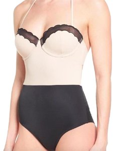 Topshop Scallop One-Piece Swimsuit