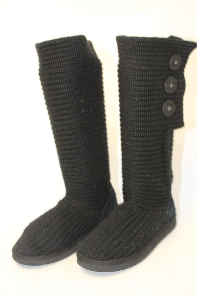 e6f6cff219c Black Uggs Womens 38 Classic Cardy 5819 Knit Boots/Booties