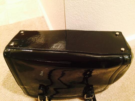 Kate Spade Patent Leather Work Tote in Black