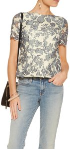Tory Burch Top Ivory, Grey