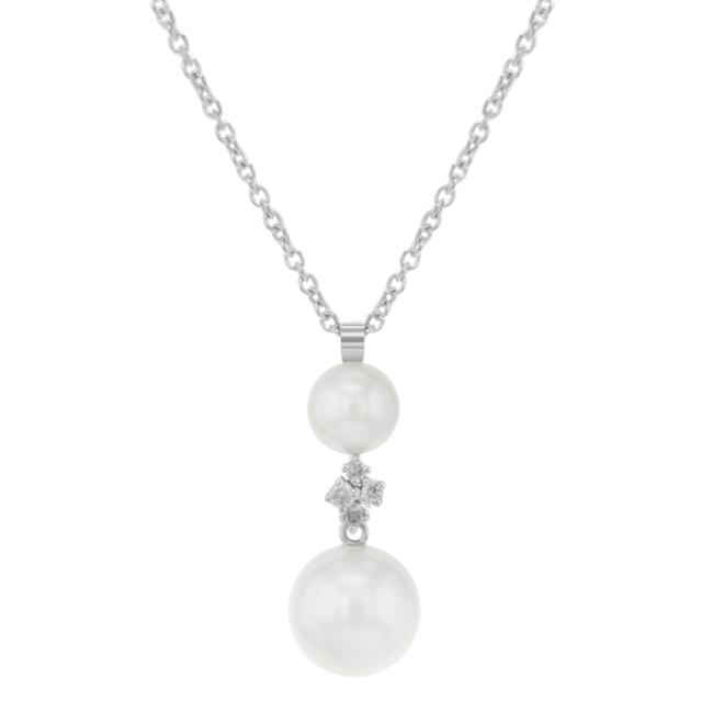 Item - Pearl and Diamond Bridesmaid With Necklace