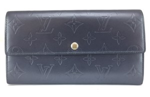 Louis Vuitton Vernis Monogram Long Flap Wallet Pocket Card Case Coin Sarah