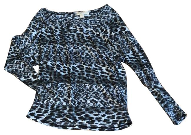 Item - Brown Black Gray and White Leopard Print Tunic Size 2 (XS)