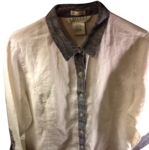 John Paul Richard Button Down Shirt white
