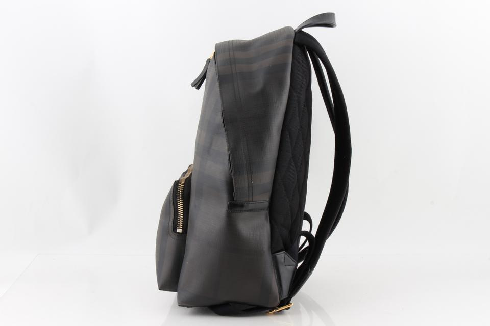 dc7c55abae4b Burberry London Multi Check Black Coated Canvas Backpack - Tradesy