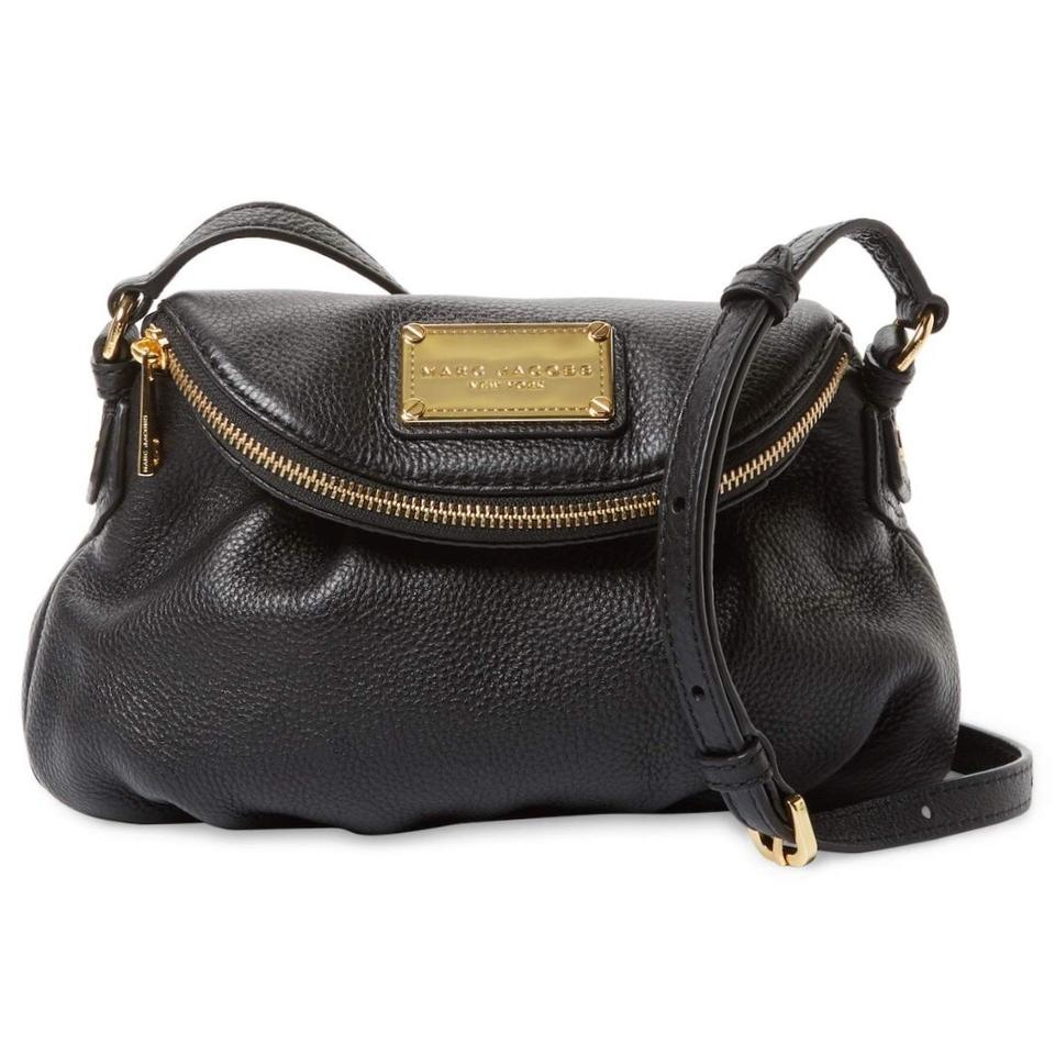 108924c07e35 Marc by Marc Jacobs Classic Mini Messenger Black Leather Cross Body ...