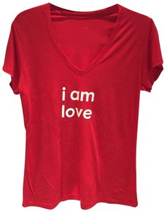 Peace Love World T Shirt Red