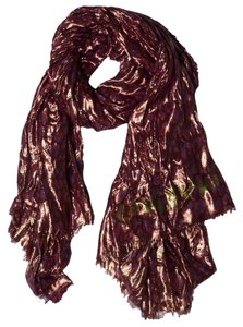 Louis Vuitton Louis Vuitton Disco Leopard Stole Shawl Scarf Prune