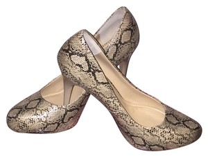 Type Z Snakeskin Pumps