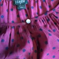 J.Crew Magenta with Blue Dotted Tunic Size 4 (S) J.Crew Magenta with Blue Dotted Tunic Size 4 (S) Image 3