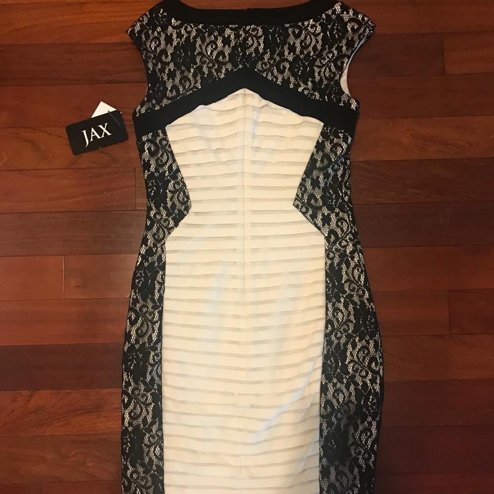 Jax black white lace side cocktail dress size 6 s tradesy jax dress 123 ombrellifo Gallery
