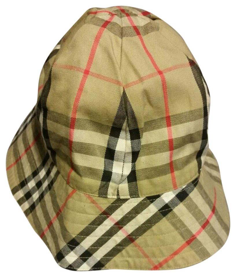 e7b06c6d59b Burberry Nova Check Reversible Plaid  Khaki One Size Hat Image 0 ...