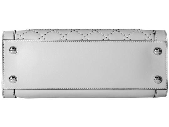 Michael Kors Studded Studs Light Quilt Satchel in Pearl Grey Image 5