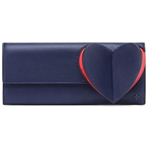 Tory Burch Navy/Red Clutch