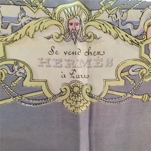 Hermès Hermes 1951 Scarf - Robinson Crusoe story (French) - RARE 60+ YEAR OLD COLLECTOR SCARF