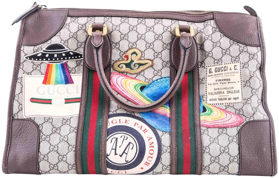 245536184724 Gucci Duffle Courrier Soft Gg Supreme Multicolor Canvas Weekend ...