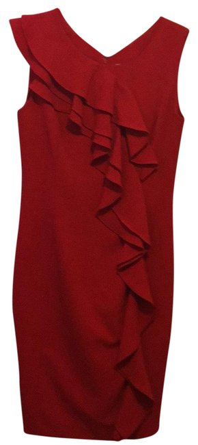 Preload https://img-static.tradesy.com/item/22961824/calvin-klein-red-mid-length-workoffice-dress-size-8-m-0-1-650-650.jpg