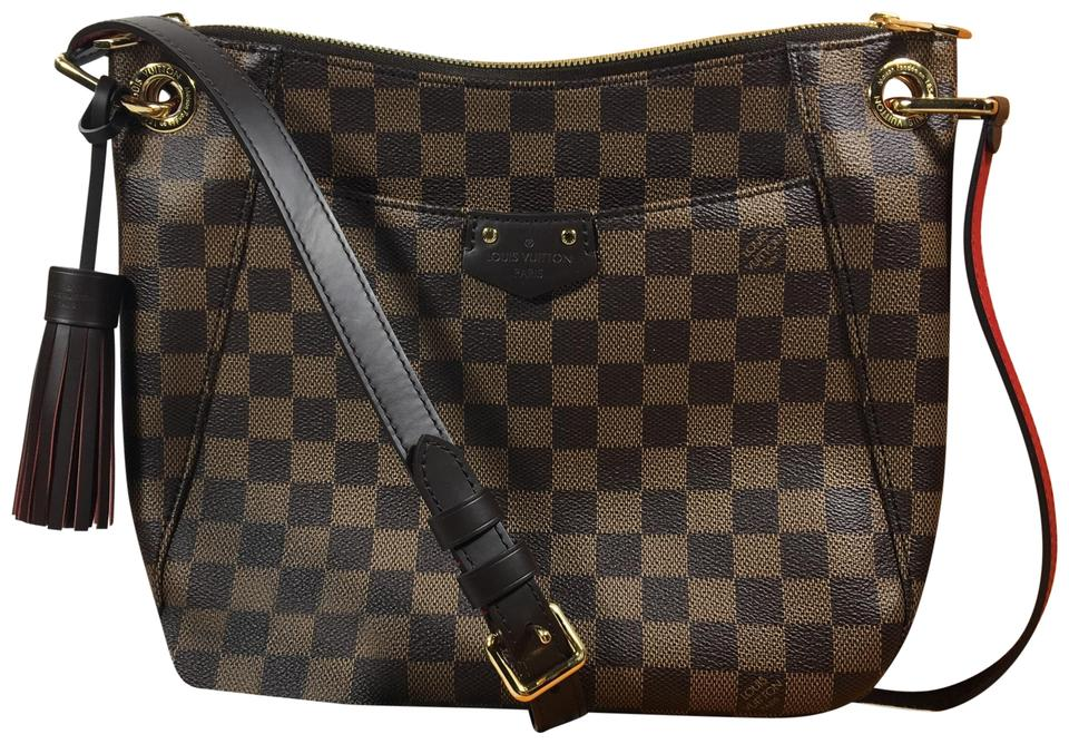 bd21e71b57ed Louis Vuitton Duomo South Bank Besace Brown Damier Ebene Cross Body ...