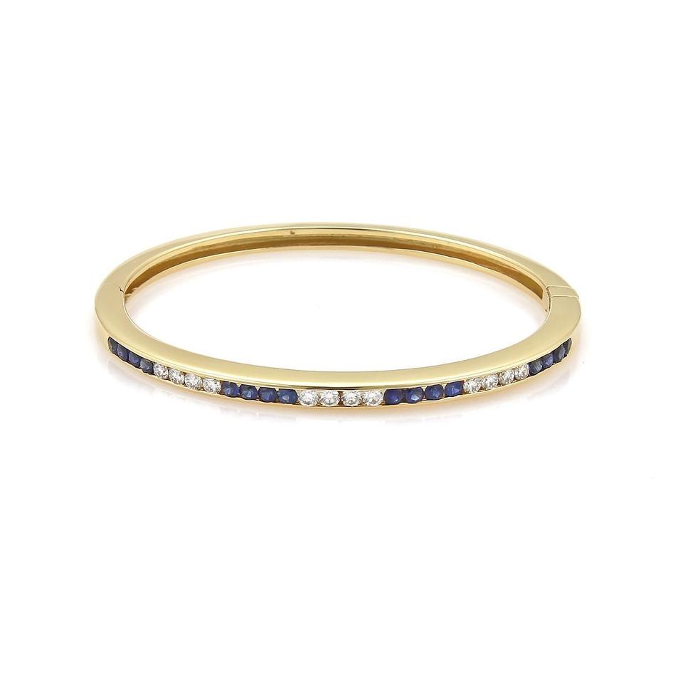 bracelet image white gold sapphire diamond bangle bangles