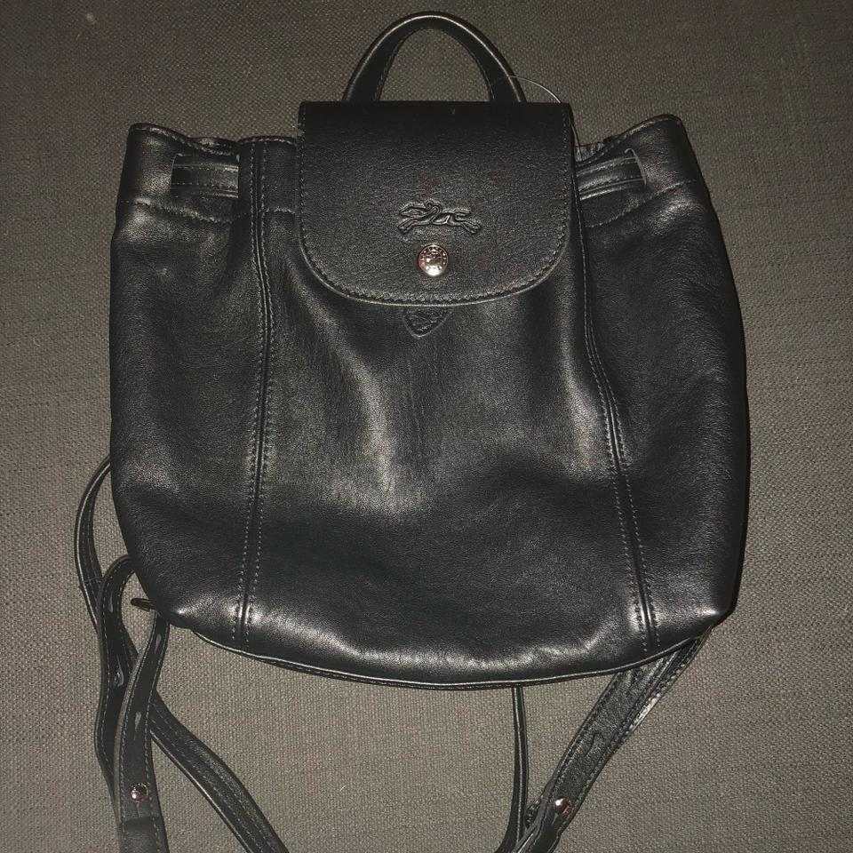 Leather Pliage Tradesy Black Sac Backpack Longchamp 6tgqzPz