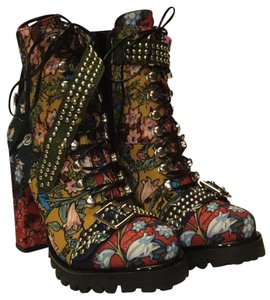 87c278579688 Jeffrey Campbell Lilith-2 New Floral Combo Boots Booties Size US 9 ...