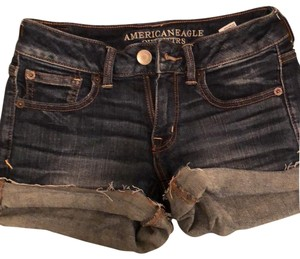 American Eagle Outfitters Cut Off Shorts dark wash