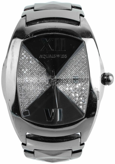 Item - * Black Pvd Stainless Steel Baby Ice Pyramid Watch