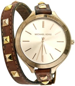 Michael Kors Michael Kors MK2299 Runway Leather Ladies Watch