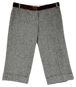 Dolce&Gabbana Pants Cropped Wool Capris Gray