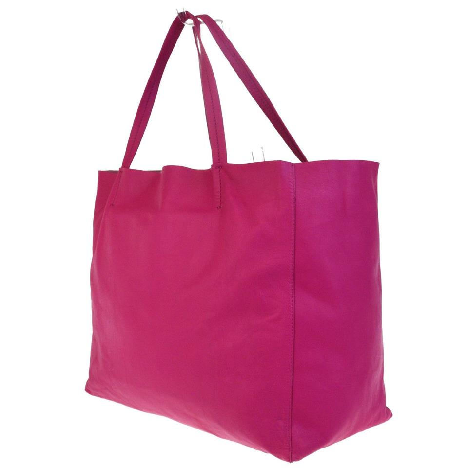 Pink Cabas Tote Horizontal Céline Leather 76SqPxWwpn