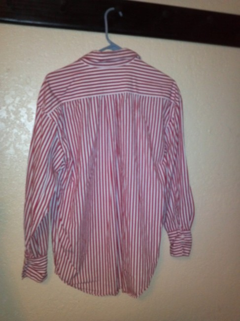 Mixit Button Down Shirt red and white