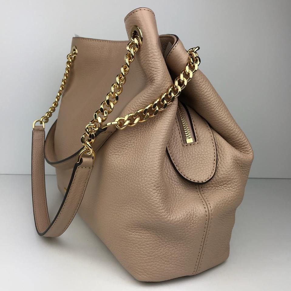Michael Kors Jet Set Large Chain Shoulder Color- Oyster Leather Tote ... bae7c4ae5066