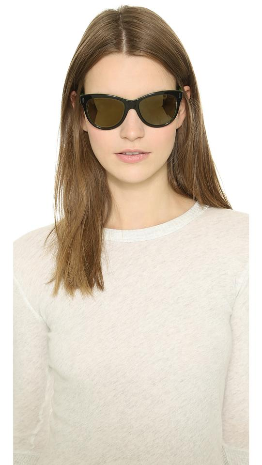 5be64efaadfb Marc by Marc Jacobs Black/Green Mirrored Slight Cat Eye Sunglasses ...