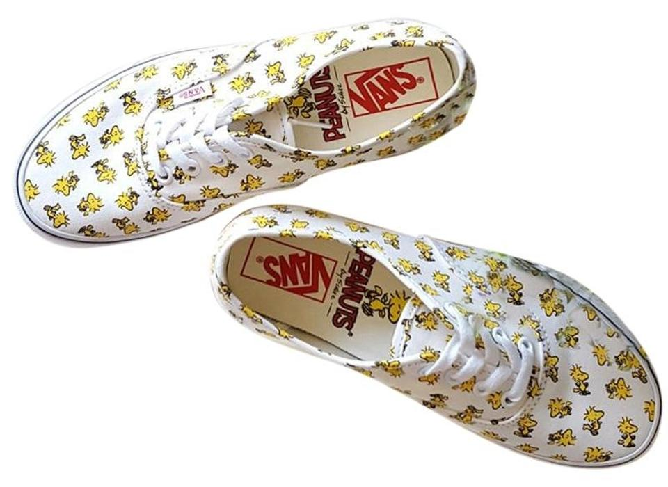 81a65f122ce Vans Yellow X Peanuts Woodstock Snoopy Charlie Brown Sneakers Size ...