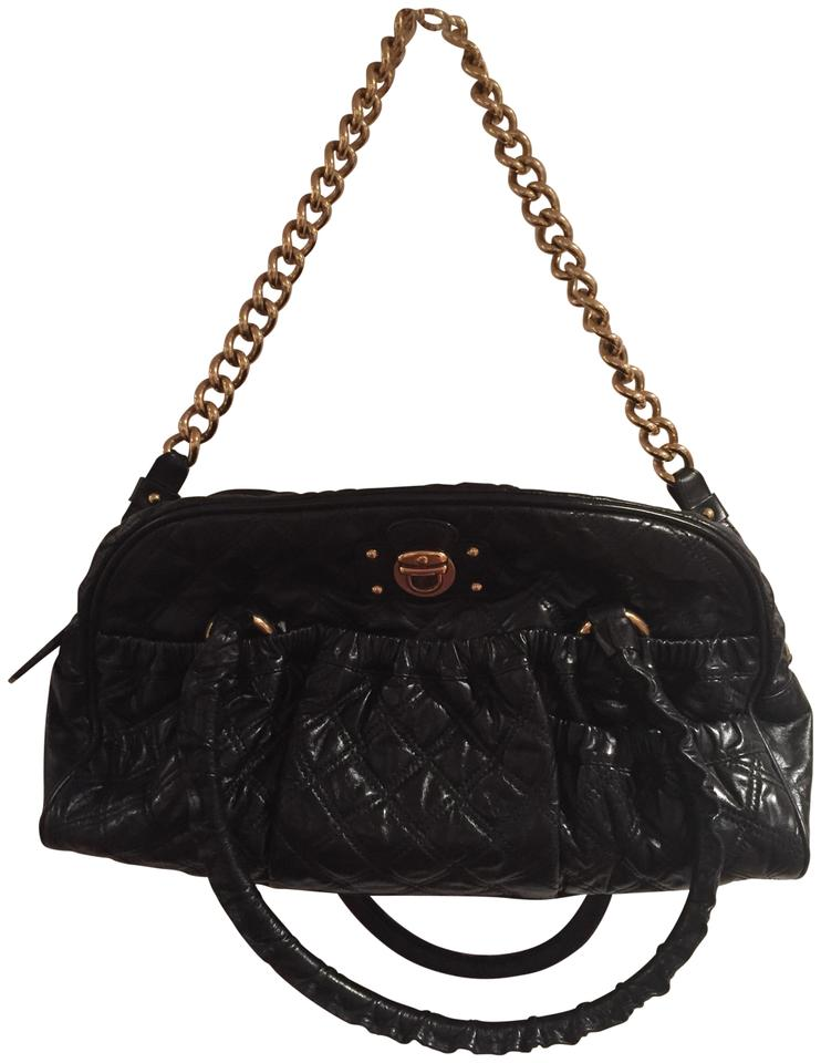 4ec012bd7c0a Marc Jacobs And Handles For Hand Held Gold Chain Strap Black Leather ...