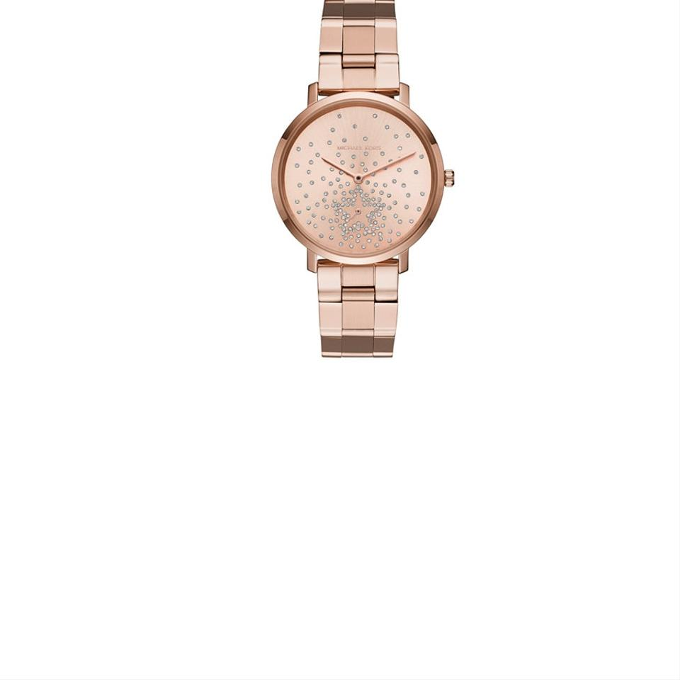 Michael Kors Rose Gold Women S Jaryn Gold Tone Mk3819 Watch Tradesy