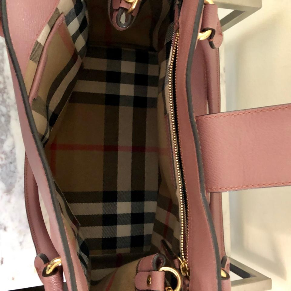 a0bd0d60cf6 Burberry Medium Buckle Tote Rose - 695.00 Pink Lambskin Leather ...