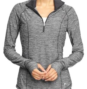 Avia gray black athletic joggers workout yoga collared warm jacket