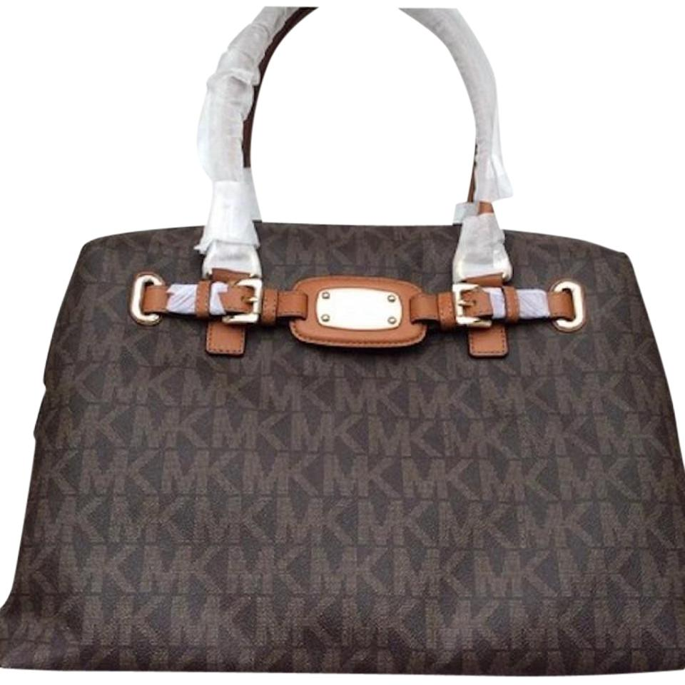 bc319d99c7ea Michael Kors Hamilton / Tote Brown / Luggage Pvc Coated Canvas / Leather  Weekend/Travel Bag