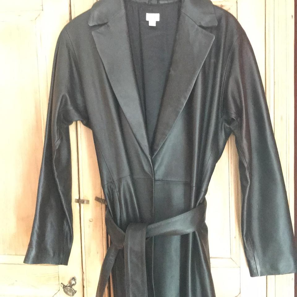 cache long black leather trench coat tradesy. Black Bedroom Furniture Sets. Home Design Ideas