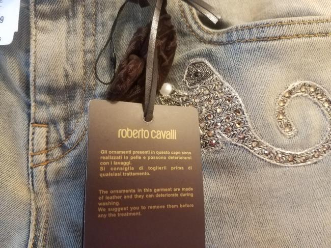 Item - Blue Medium Wash Cigarette with Animal Patches Skinny Jeans Size 26 (2, XS)