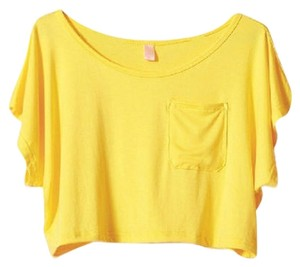 LuYeZhenQing Sexy Summer Short T Shirt Yellow