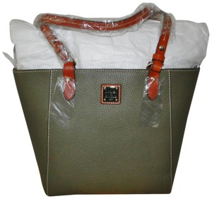 Dooney & Bourke Janie Leather Tote in Olive Green